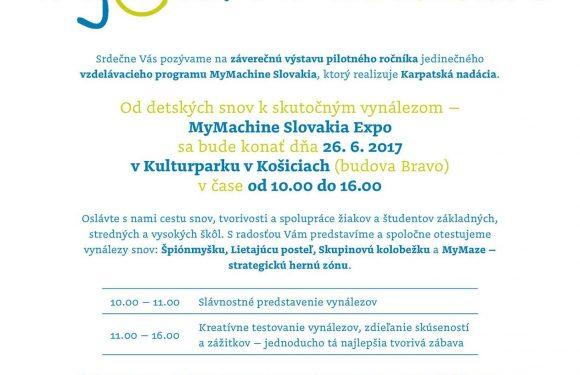 MyMachine Slovakia Exhibition 2017