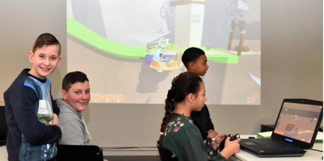 Creating their own computer game