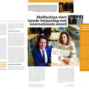 MyMachine featured in February edition of VOKA Chamber of Commerce Belgium Magazine