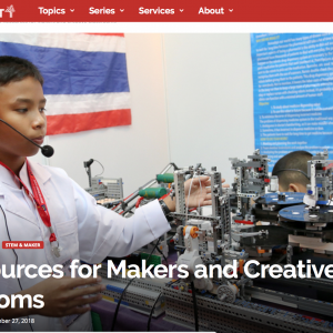 Getting Smart's list of 50 Resources for Makers and Creative Classrooms: and we're on it!