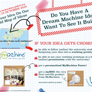 Drop Your Dream Machine Idea on our World Map of Ideas and maybe your idea will be designed into a working prototype