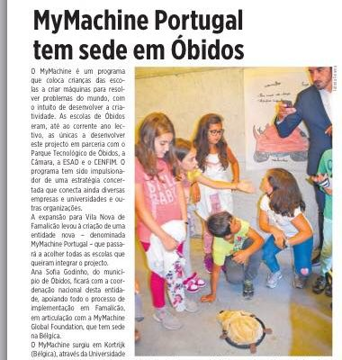 MyMachine Portugal's story in the newspaper