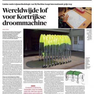 MyMachine in Belgian Newspaper