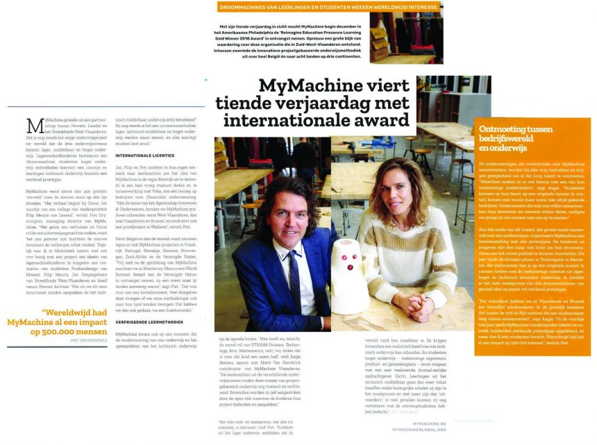 MyMachine featured in February edition of VOKA Chamber of Commerce Belgium Magazine