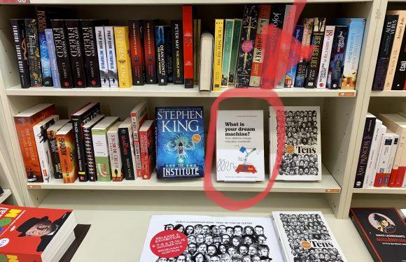 MyMachine book across bookshops in Belgium