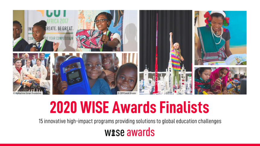 MyMachine shortlisted for the prestigious WISE 2020 Global Education Awards (Qatar Foundation)