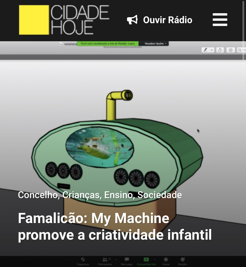 Article in Portuguese Newspaper on MyMachine