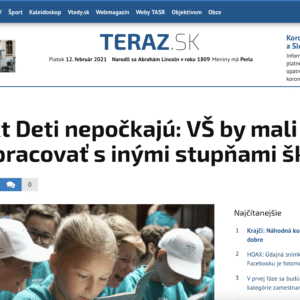 Article in Slovakian Newspaper examining the power of MyMachine for the education system