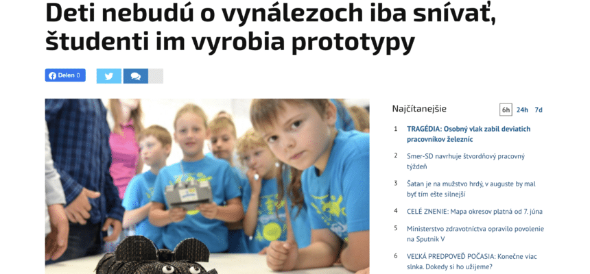 Article on MyMachine Slovakia in national newspaper