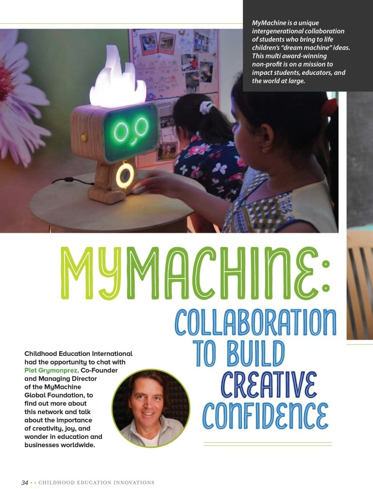 MyMachine featured in Washington-based Childhood Education International